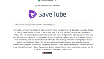 Savetube com Seems to have been hacked, redirects to traffic