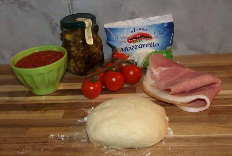 ingrédients pizza jambon artichaut