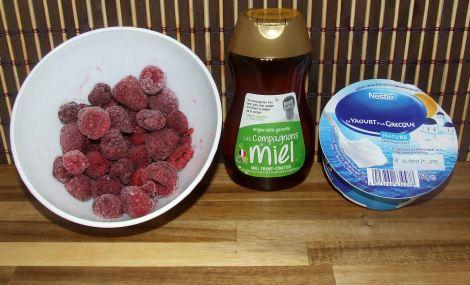 les ingrédients de la glace maison sans sorbetiere