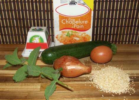 Les ingrédients nécessaires pour la recette de galette de quinoa