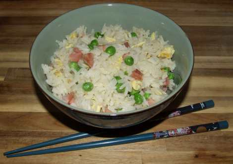 le riz cantonais au wok