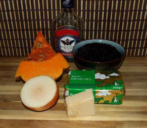 les ingrédients de la recette salée d'Halloween