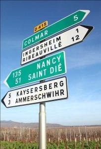 La route des vins d'Alsace, La route des vins d'Alsace
