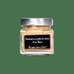 Moutarde aux citron et thym