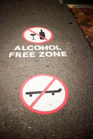 zona libera dall'alcol