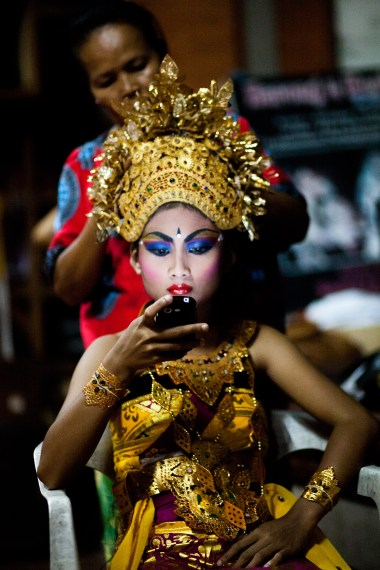 backstage and mobile phone