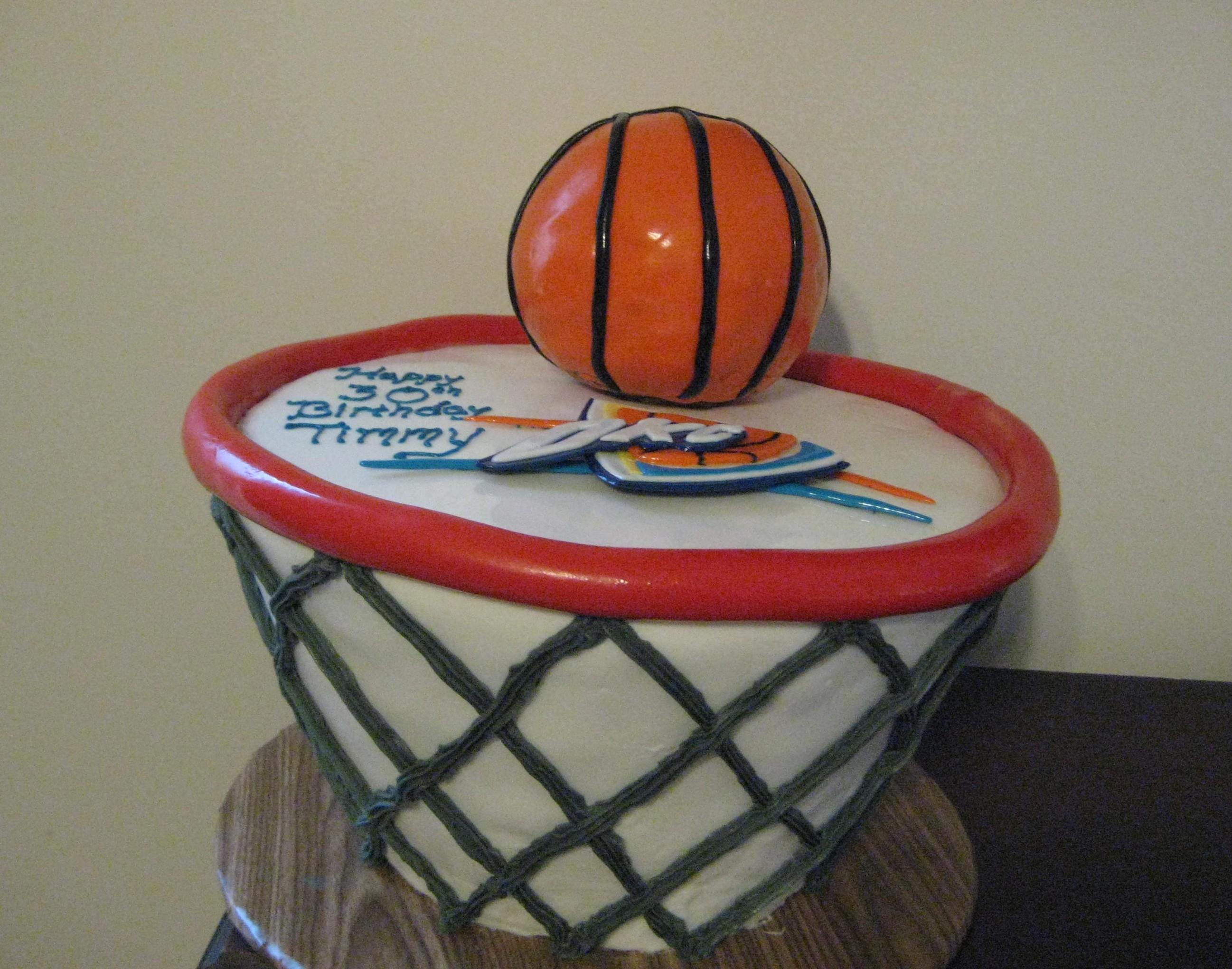 OKC Thunder Cake Saveyourforkcakes