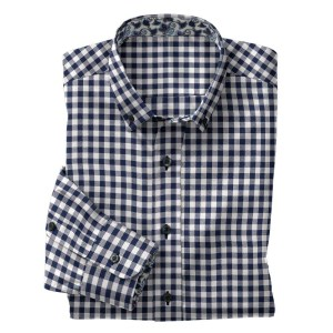 Men's navy gingham shirt