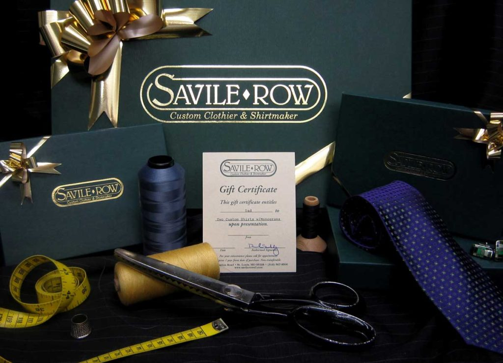 Holiday Gift Certificates from Savile Row are Easy and Appreciated