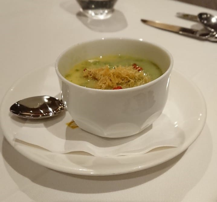 華國牛排-前菜-絲瓜、海瓜子、布蕾