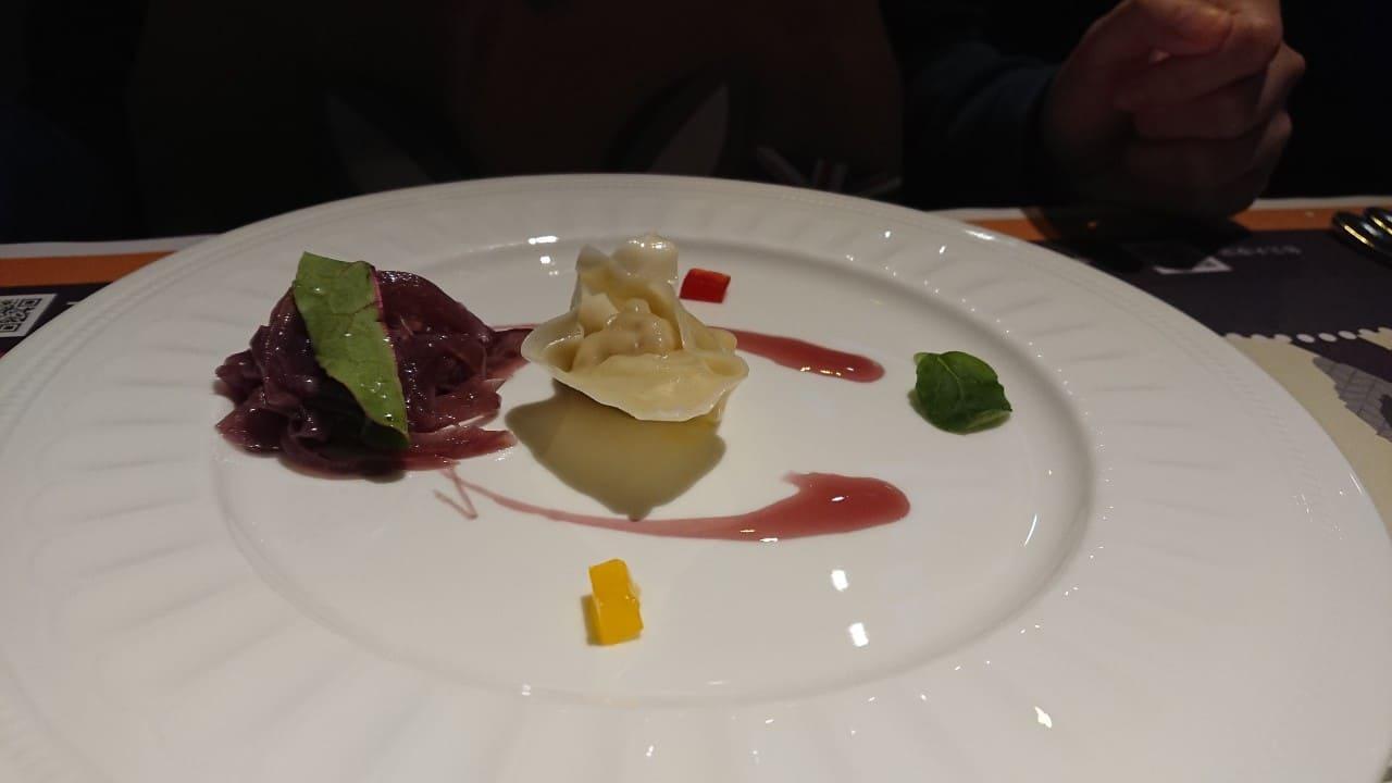 Cairns 凱恩斯岩燒餐廳-松露義大利餃佐紅酒洋蔥