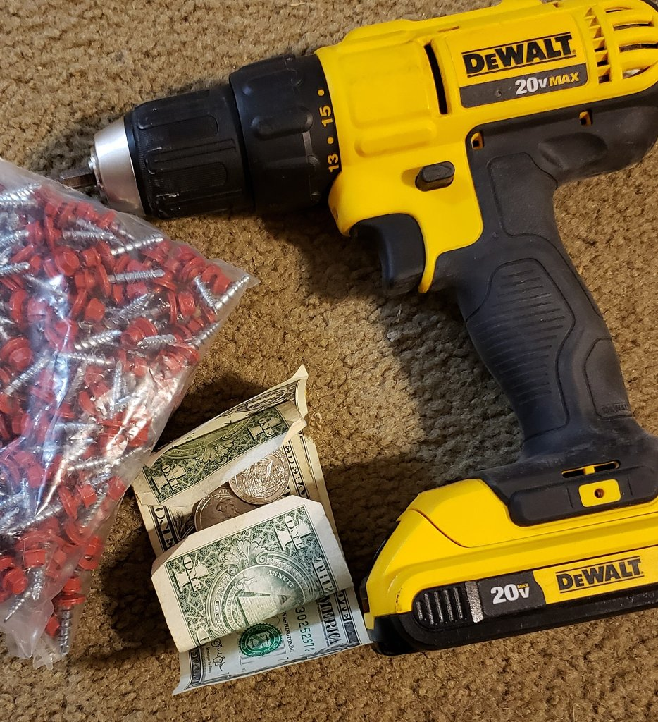 Drill, screws and money.