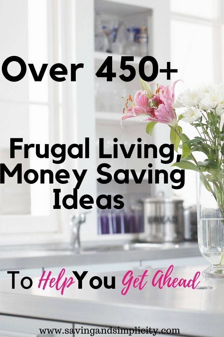 Are you struggling to save money? Here are 450+ money saving, frugal living tips to help you get ahead. Start saving money on your household expenses today.