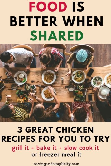 What's for dinner? Three great chicken freezer meal dinner recipes. Try out these easy family friendly chicken dinner recipes today.