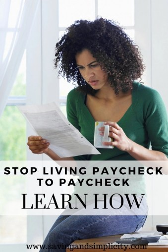 You can stop living paycheck to paycheck. Learn simple easy changes to cut your household expenses and put more money in your wallet. Start saving money.