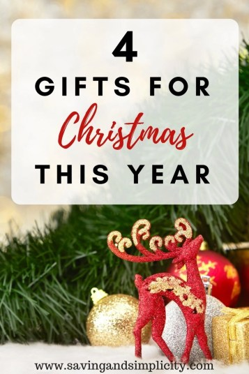 "Have fun this Christmas. Stop the buying of ""stuff"". Save money. Live more frugally. Take part in a four gift Christmas. Learn how to have a 4 gift holiday."