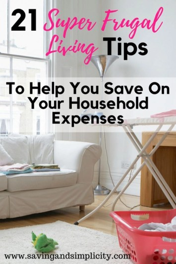 Home is where your heart is and where you raise your family.  Start saving money and cut your household expenses using these 21 frugal living tips.