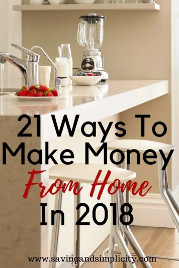 When life needs a second income. Household expenses can get expensive.  Learn 21 ways to make money working from home in 2018.