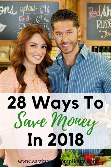 This is the year to start saving money. 28 of the easiest ways to save money. No clipping coupons. Simple, easy, stress free money saving. Frugal living