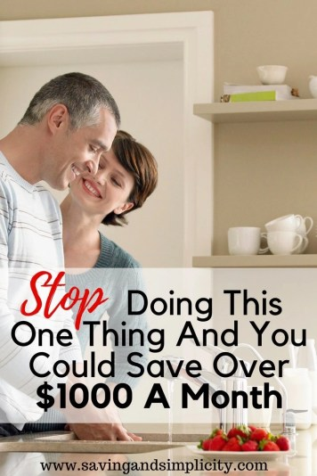 You probably do this and don't even realize you are doing it.The last person I talked to said they only do it every once in a while and it doesn't add up to too much. Stopping this one activity could save you over $1000 a month. Frugal living, saving money.