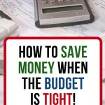 Does money have you stressed? Are you living paycheck to paycheck? Learn how to save money when things are tight. Learn to live more frugally.