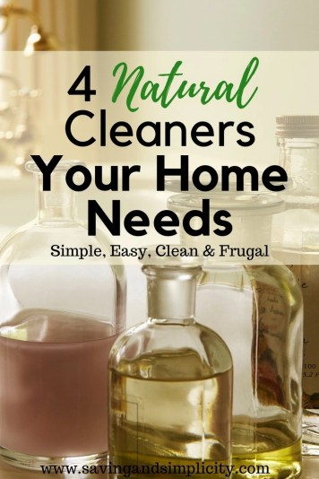 Let's face it and get it out in the open. Your house needs cleaning and you don't need all those expensive toxic bottles of cleaners. You need these 4 ingredients and your house will smell and look amazing. Natural frugal do it yourself cleaning start saving money now.