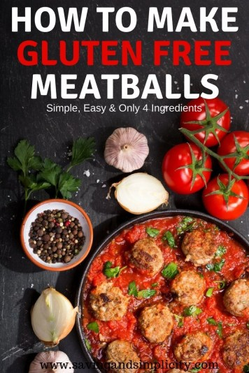 Meatballs in tomato sauce, meatball sandwiches, meatballs and dipping sauce. How many ways can you make meatballs? Learn how to make gluten free meatballs with 4 simple and easy ingredients. These make great freezer meals too.