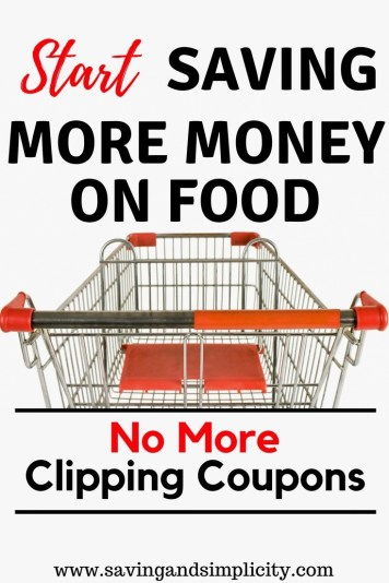 Start saving money on food. Learn how to save money on groceries without coupons. No more clipping coupons, 7 frugal tips to help you save money at the grocery store. Start saving money today.