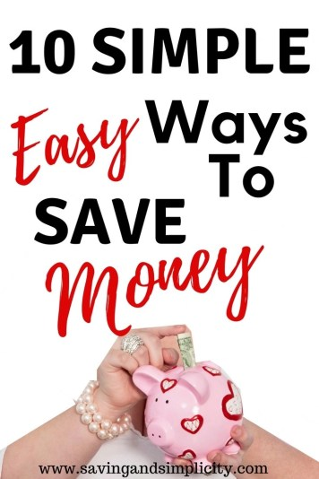 Saving money just got simple and easy.Whether you are saving for a much needed vacation or the rent is due or you are saving to quit your 9-5. Saving money just got a whole lot easier. Learn 10 simple easy ways to save money. Ways that helped us save over $1000.