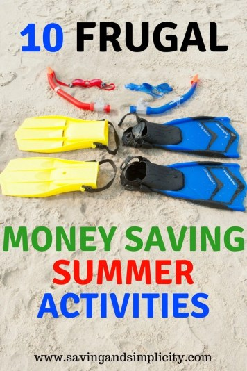 Summer means longer lazy days, picnics in the park and barbecue dinners.Learn 10 frugal money saving summer activities. Frugal family fun. No spend weekends. Cheap kids activities.