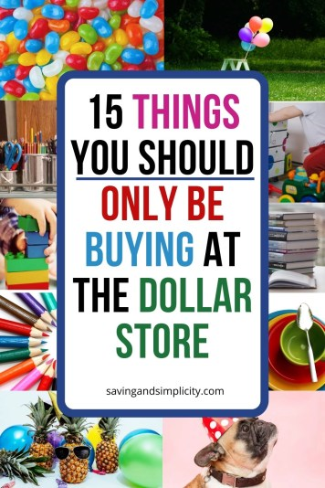 dollar store is the best place to save money