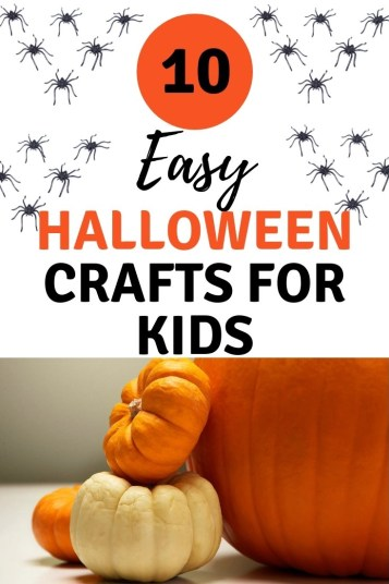 10 easy Halloween crafts for kids. Halloween is a time for creation and imagination. Ghosts, goblins, pumpkins and more. Trick or treat bags and decorations