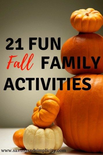 Fall is the season of pumpkin spice lattes and apple pie. Jumping in leaves and carving pumpkins. Enjoy 21 fun fall family activities.