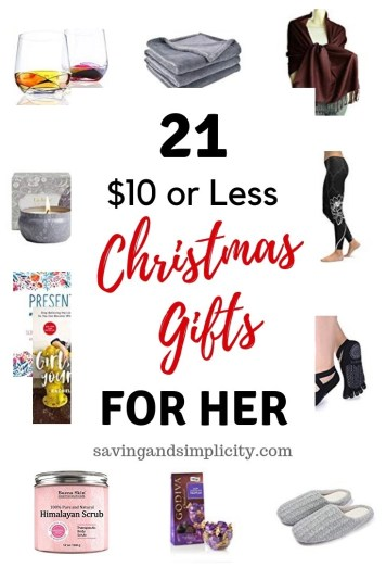 21 gifts for her under $10. Stocking stuffers, Christmas gifts, hostess gifts and more. Keep your holidays on budget with these amazing gifts under $10.