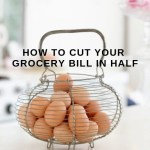 Do you struggle with the cost of groceries? Learn how to cut your grocery bill in half with 25 money saving tips. Learn the grocery store saving secrets now