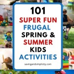 Are you trying to plan some fun frugal spring or summer family activities? You need this list! Even if your budget is super tight you will find the perfect activity on this list. With over 101 cheap activities, some of them free you are sure to find the perfect activity for your kids.