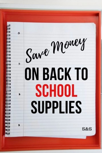 How to save money on back to school supplies without clipping coupons. 21 of the best money saving tips for back to school. All grade levels.