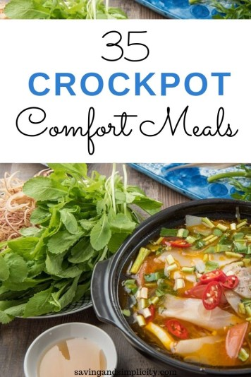 Nothing says Fall comfort like easy to prepare Crockpot meals. Simple, easy dump and go recipes that satisfy even the pickiest eaters.Discover 35 delicious recipes. No weeknight dinner will be the same.