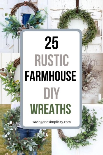 Decorate your front door or hang over your mantel 25 amazing DIY holiday wreaths. Winter, Fall Spring & Summer wreath styles. Do it yourself, get creative. Be inspired.