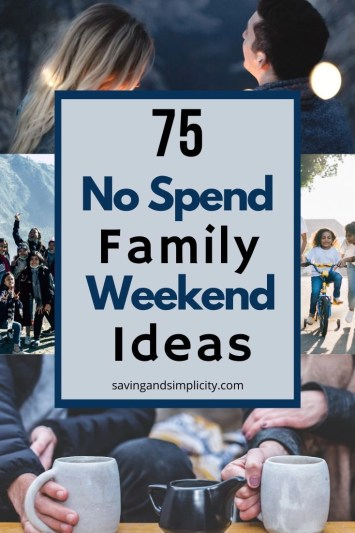 75 no spend weekend ideas