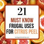 uses citrus peel