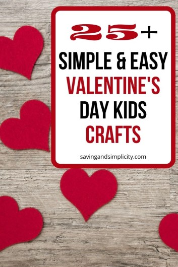 Are you looking for the perfect Valentine's craft to make with your kids? Here are 25 amazing, simple & easy Valentine's Day crafts for kids.