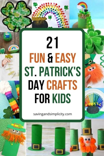 Get your children super excited for leprechauns & shamrocks with this amazing collection of 21 easy and simple to make St. Patrick's Day crafts for kids.