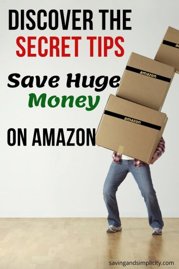 Discover the secrets to saving money on Amazon! Learn 7 AMAZING, super simple ways to save huge amounts of money on your next Amazon purchase.