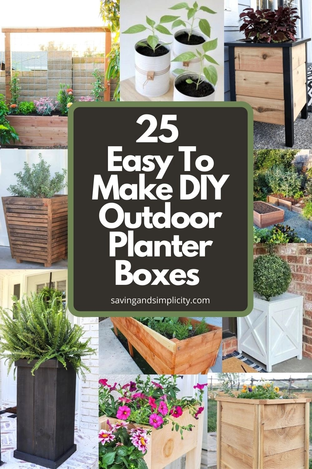 make diy planter boxes for your patio