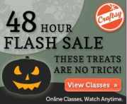 Craftsy:  48 Hour Flash Sale!  Online Craft Classes up to 75% Off!