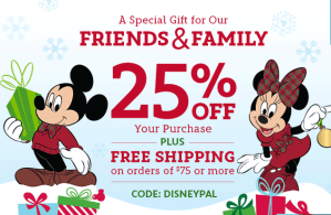 Disney Deals! 25% off your purchase
