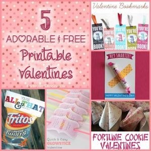 5 Adorable & FREE Printable Valentines