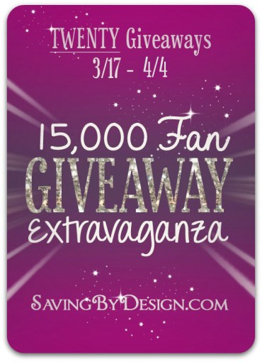 Saving by Design giveaway extravaganza