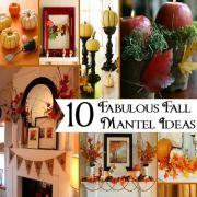 10 Great Fall Fireplace Mantel Ideas
